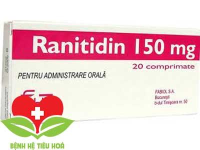 Ranitidin thuốc chuyên để điều trị các bệnh về viêm loét dạ dày